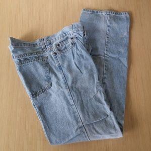 Mens Size 33 X 32 Blue Jeans Work Pants